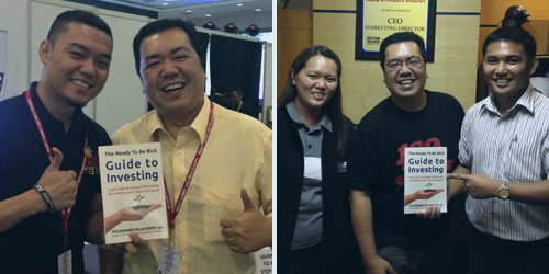 Left: The Global Filipino Investors Founder, Floi Wycoco Right: IMG Wealth Academy EVC, Drs. Jo and Jaime Lorenzo