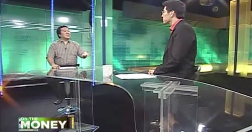 My very first TV guesting in ANC On The Money back in 2012.
